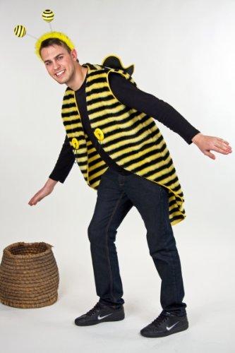 Karneval Herren Kostüm Bienen Frack Plüsch als Tier verkleiden Gr.L