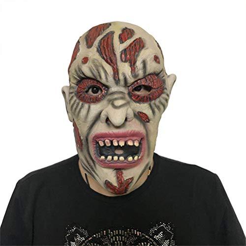 YLJYJ Halloween Erwachsene Maske, Zombie Maske Latex Bloody Scary Extrem Ekelhaft Vollgesichtsmaske Kostüm Party Cosplay Spielzeug Cap