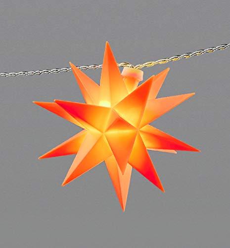 LED Lichterkette 3D Stern rot weiß gelb 9 Sterne Adventsstern IP44 Outdoor 7,4m (rot)