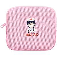 Kleine Krankenschwester Stickerei Erste Hilfe Portable Medizin Tasche, Pink preisvergleich bei billige-tabletten.eu