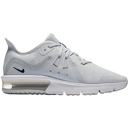 Nike Jungen Air Max Sequent 3 (Gs) Leichtathletikschuhe, Mehrfarbig (Pure Platinum/Black/White/Wolf Grey 005), 37.5 EU