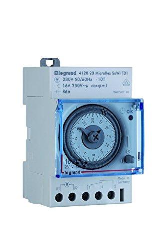Legrand 412823 Interrupteur horaire journalier automatique 1 sortie/contact 16 A. NO/NF