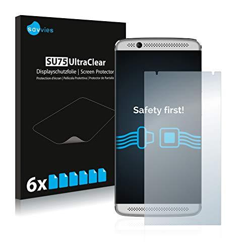 Savvies Schutzfolie kompatibel mit ZTE Axon 7 Mini (6 Stück) - ultraklare Bildschirmschutz-Folie