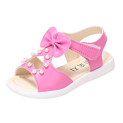 Sandals Kids,Ba Zha  Toddler Kids Baby Girls Sandals Bowknot Pearl Roman Sandals Princess Shoes Sneakers Sandals Newborn Sandals Slippers Boots Flats Slip-On Single Shoes Beach 0-6 Years Old