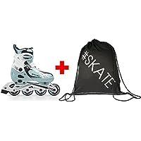 Spokey Set Größenverstellbare Inline Skates + ULTRAPOWER Beutelrucksack Modelle | Kinder | Jugendliche | Damen | Herren