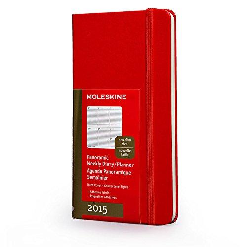 2015 Moleskine Red Pocket Slim Panoramic Diary Hard (Moleskine Diaries) por Moleskine
