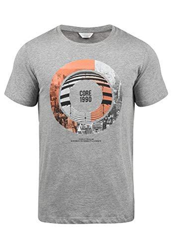 JACK & JONES Core Sadri Herren T-Shirt Kurzarm Mit Print Aus 100{e06696886a89a0bdb5fe00618ddd308617add1d3e7bf66b4526ca5f0aaa1da9e} Baumwolle, Größe:L, Farbe:Light Grey Melange