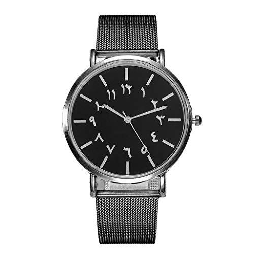 d4b325334270 Javpoo Vansvar Banda de Acero Inoxidable de Cuarzo Informal Newv Reloj de  Pulsera Reloj de Pulsera