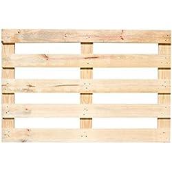 Europalet CABE120X80MADERA1 Palé de madera para cabecero de cama, 120 x 80 x 3 cm