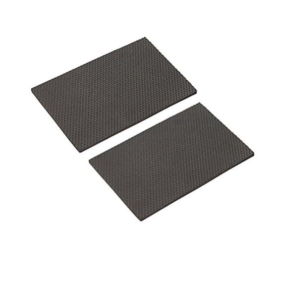 Vosarea 2pcs Rubber Floor Protectors Furniture Floor Protector Pad for Table Chair Furniture (Black Free Cutting)