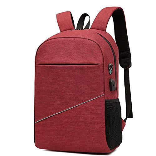Großvolumige Outdoor Rucksack, Reiserucksack, Business-Computer-Rucksack, Geeignet Für Männer Und Frauen, Mit USB-Schnittstelle,Rot