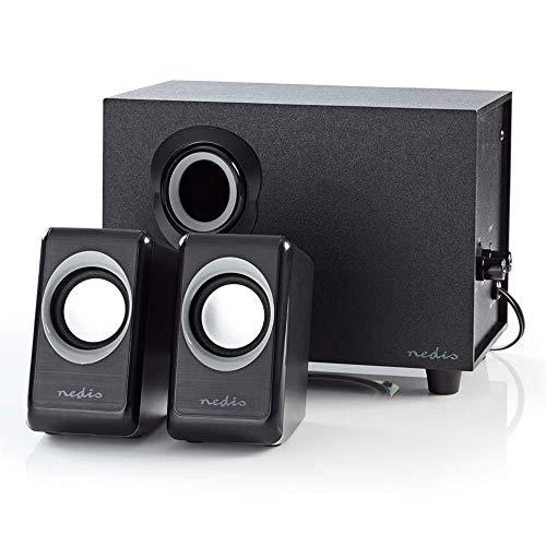 Combusters Design Lautsprecher 2.1 Box Boxen für Pc Computer Laptop System Gaming 33W Soundsystem mit Subwoofer schwarz