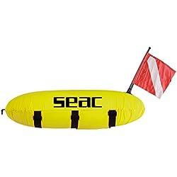 Seac Bouée Torpille en PVC Fluorescent avec drisse 25 mt