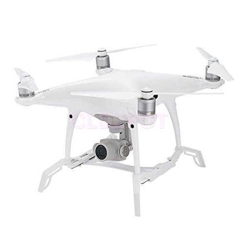 ELECTROPRIME Camera Gimbal Protector Guard and Landing Gear for RC Drone (White, Small)