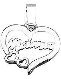 Colgante plata Ley 925m mamá corazon liso [5138]