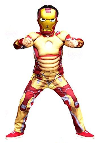 Inception pro infinite costume - bambini - iron man - carnevale - halloween - travestimento - cosplay (taglia s - 3-4 anni)