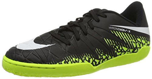Nike 749920-017, Chaussures de Football en Salle Garçon Noir (Black/white-volt-paramount Blue)
