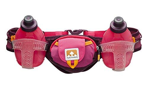 Nathan Trail Mix - Cinturón de hidratación para running, color rosa,