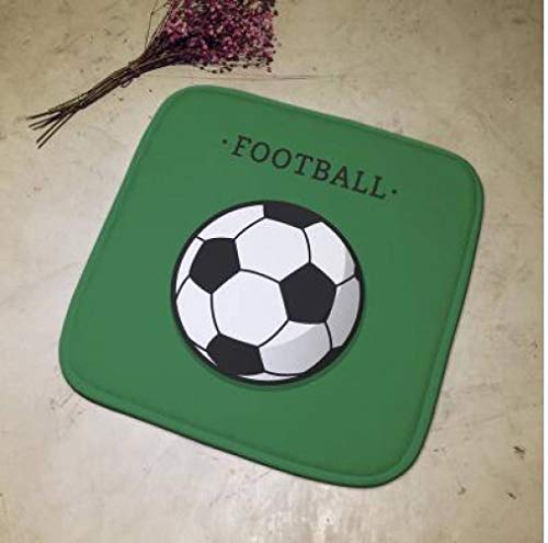 OLEEKA Sitzkissen Grün Fußball Abgelegt Bürostuhl Kissen Pad Sofa Stuhl Hocker Matte Sitzkissen Anti Slip -