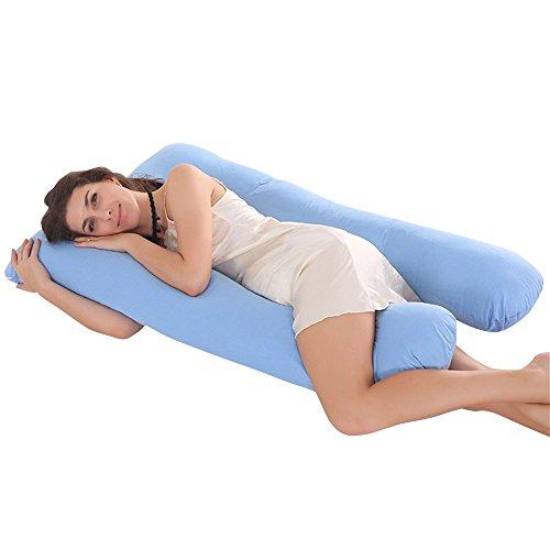 Jian Ya Na - Almohada de Lactancia en Forma de U para Dormir Lateral, Almohada de algodón...
