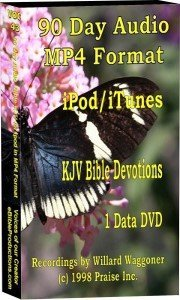 90 Day Audio MP4 IPod/iTunes Devotions - KJV Bible - 75 hours - (1) data DVD disk 90 Ipod