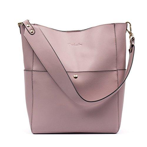 c0459cbe3f5b9 BOSTANTEN Leder Damen Handtasche Schultertasche Designer Umhängetasche  Tasche Groß Hellblau Tarorosa