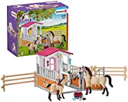 Schleich Horse Stall With Arab Horses And Groom Set, Multi-Colour