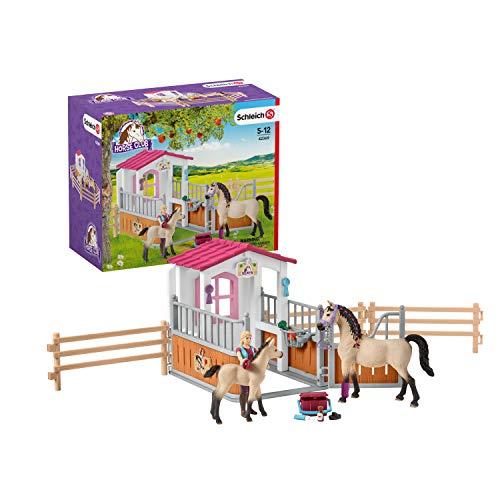 Schleich 42369 - Pferdebox mit Arabern und Pferdepflegerin