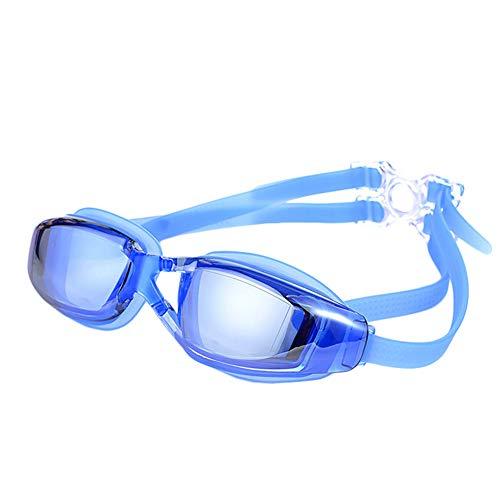 xMxDESiZ Wasserdichte Anti-Fog-Anti-UV-Schutzbrille Schwimmbrille Brillen Blau