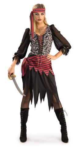 Seas - Womens Costume Hen fancy Dress (Pirate Fancy Dress Womens)