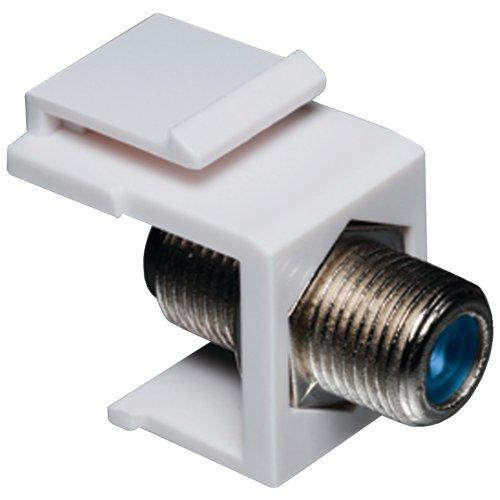 - T0320-3202-wh Keystone Jack mit 2,4GHz f-Stecker (weiß) Datacomm Electronics