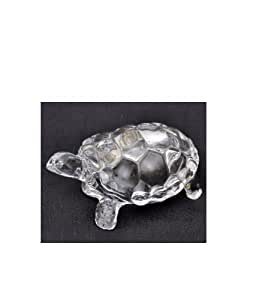 Divine Miracles Crystal Glass Medium Fengshui Crystal Tortoise ( Transparent, Medium )