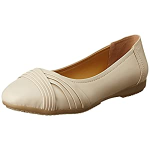 Bata Women's Pleated Ballerina Ballet Flats