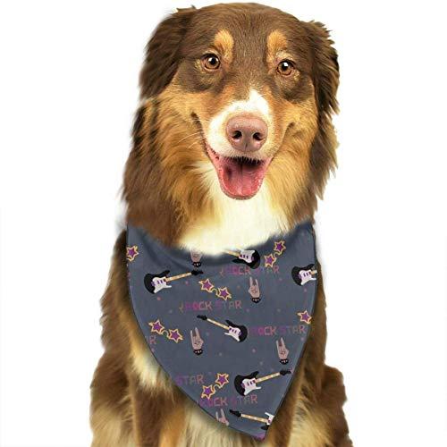 Wfispiy Sonnenbrille und E-Gitarren-Muster Ostern Dog Bandana Reversible Triangle Lätzchen für Hunde Haustier Tiere