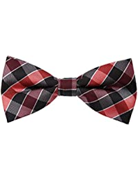 EBDC0051 Black Red Grey Checkered Bow Ties Microfiber Gift Idea For Series Pre-tied Bow Tie By Epoint