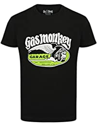 Gas Monkey Garage Official GMG T Shirt Cigar Monkey Green Wings All Sizes