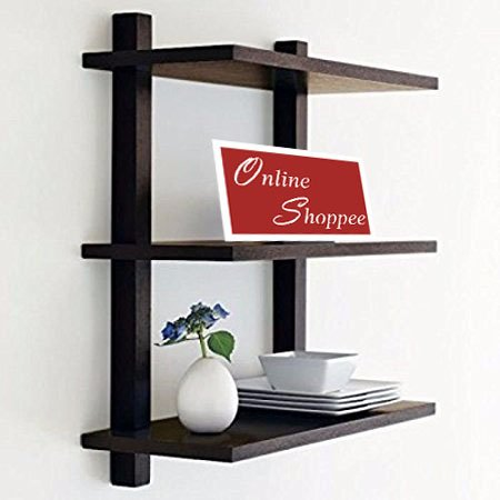 Onlineshoppee Nivel Floating Wall Shelf (Black)