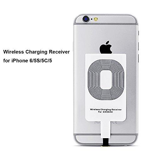 Qrity Qi Empfänger, Intsun Wireless Charging, Qi Receiver, Schlank Charger Receiver Ladegerät Empfänger,Handy Empfänger, Modul Cellular induktiver Qi Lade-Empfänger für iPhone 6s/6/5/5S/5C (Sender Wireless-ladegerät)