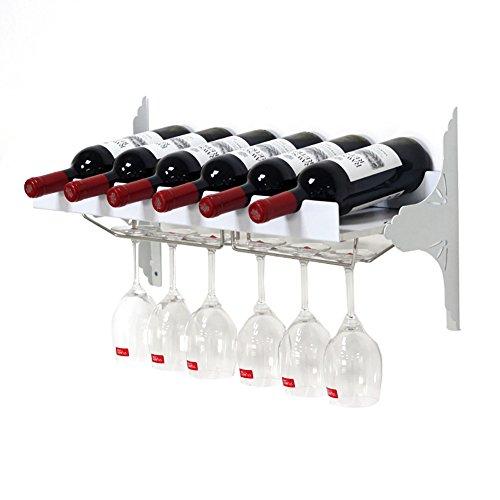 ZJM-wine rack Wand-Weinregal Weinglas-Halter (Farbe : Weiß)