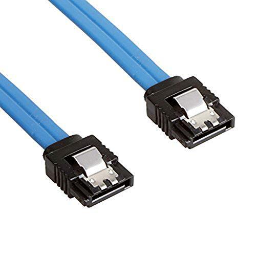 Nosii SATA 3.0 III SATA3 6 Gbit/s-Datenkabel 20 Zoll 50 cm für HDD-Festplattenlaufwerk SSD (Color : Blau, Size : Straight Head)