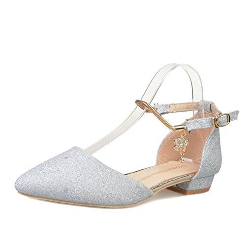 Spring fashion lady pointu léger boucle sandales/Joker dans la version coréenne des chaussures talons chunky strappy B