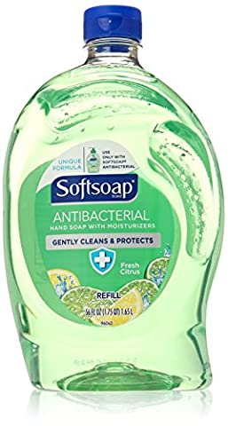 Softsoap Antibacterial Hand Soap with Moisturizers Refill Fresh Citrus 56 Oz