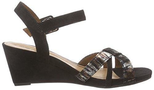 Tamaris 28301, Sandales Compensées femme Noir (black Comb 098)