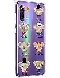 Oihxse Compatible con Motorola Moto G8 Funda Cristal Silicona TPU Suave Ultra-Delgado Protector Estuche Creativa Patrón Protector Anti-Choque Carcasa Cover(Pereza A8)