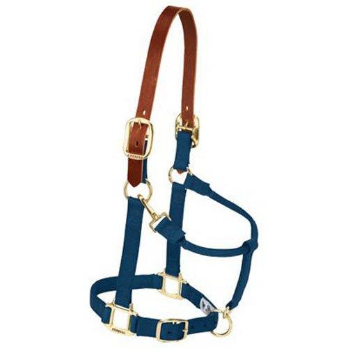 Weaver Lederhalfter für Kinn- und Halsausschnitt, verstellbar, Small Horse, Navy