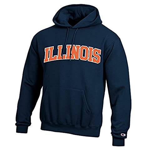 NCAA Illinois Illini Men's Eco Powerblend Hooded Sweat Shirt, XX-Large, Navy