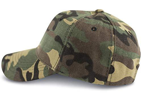 FashionCHIMP Military-Cap aus Baumwolle mit stufenloser Weitenregulierung, Baseballcap, 6-Panel Cap (Woodland)