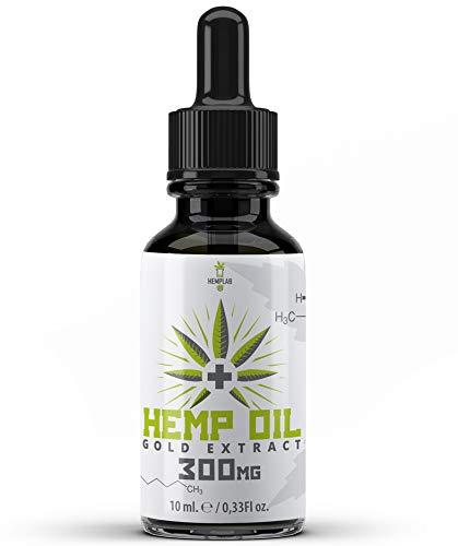 Hemp Lab - Aceite de cáñamo de 3% 300 mg de cáñamo de espectro completo 10 ml fabricado con los más altos estándares GMP