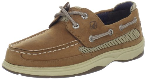 Sperry Athletic Sneakers (Sperry Lanyard Boat Shoe (Little Kid/Big Kid),Dark Tan/Navy,13 M US Little Kid)