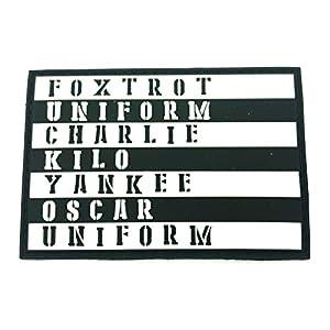 Foxtrot Uniform Charlie Kilo Yankee Oscar Uniform PVC Airsoft Paintball Klettverschluss-Flecken Kader Patch